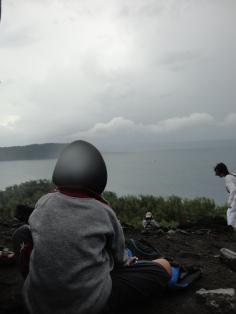 Daffa' di puncak Krakatau