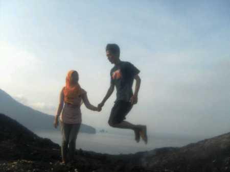 With IKO at Krakatau Mountain