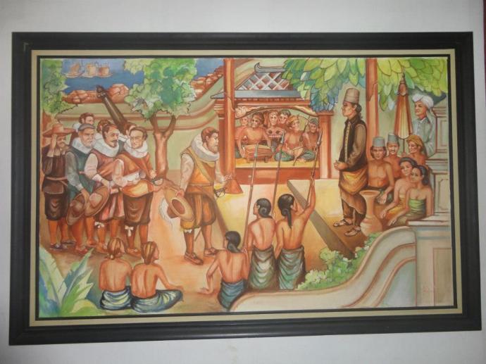 Salah satu lukisan suasana kerajaan dan penjajah