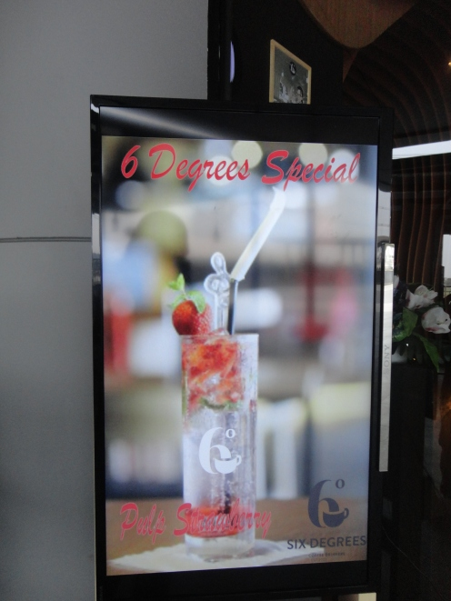 Digital display of menu